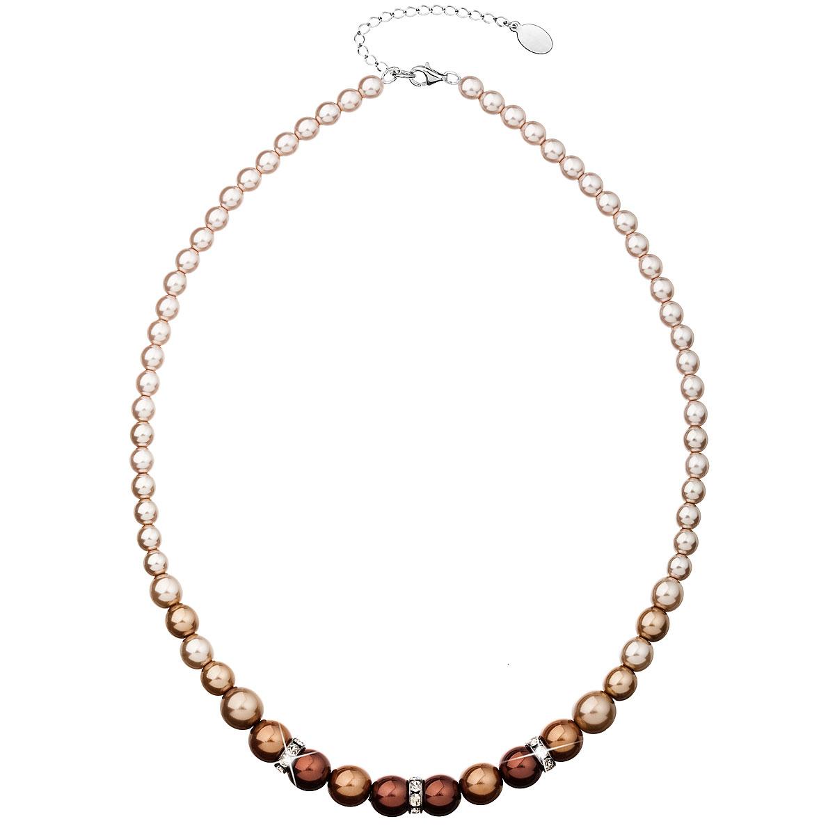 Perlový náhrdelník hnedý 32005.3