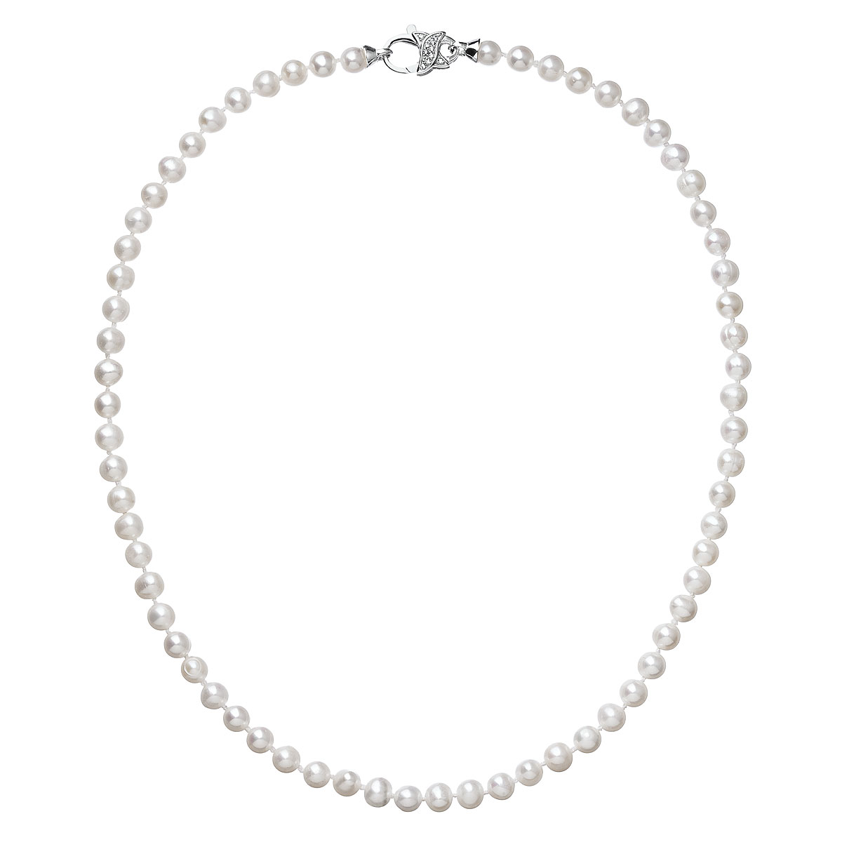 Perlový náhrdelník z pravých riečnych perál biely 22002.1