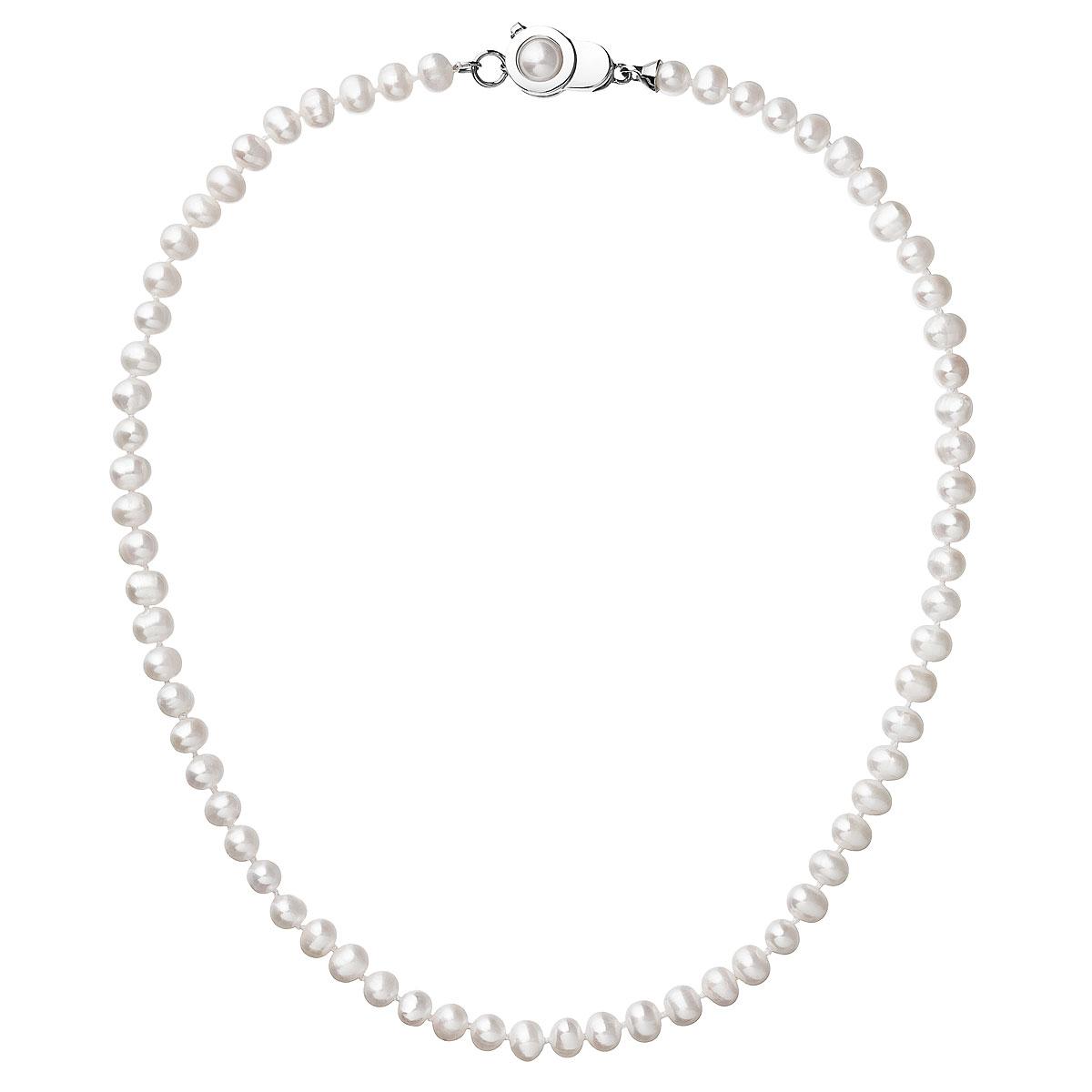 Perlový náhrdelník z pravých riečnych perál biely 22006.1