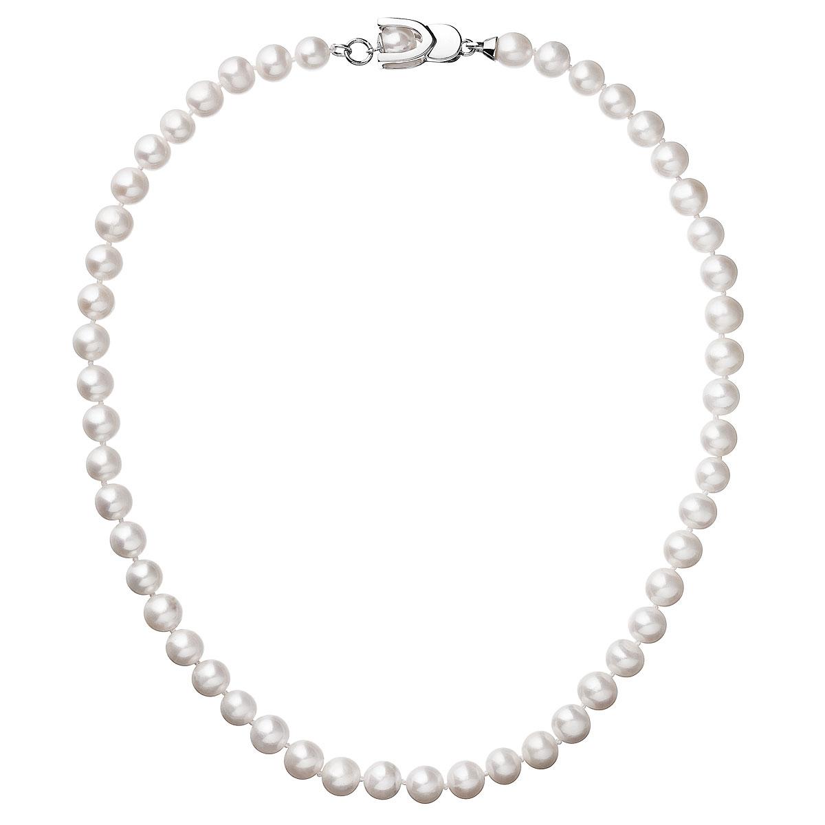 Perlový náhrdelník z pravých riečnych perál biely 22007.1