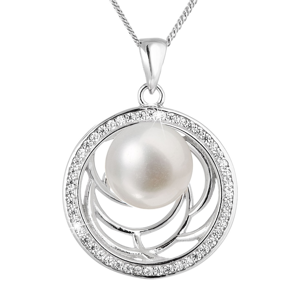 Perlový náhrdelník z pravých riečnych perál biely 22029.1