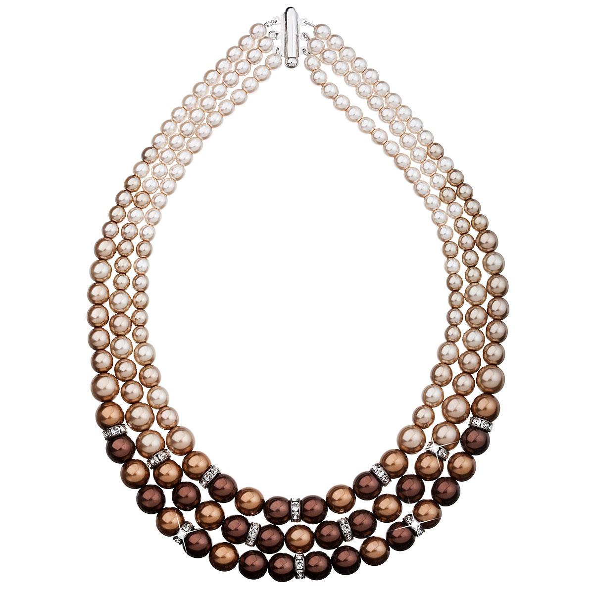 Perlový náhrdelník hnedý 32009.3