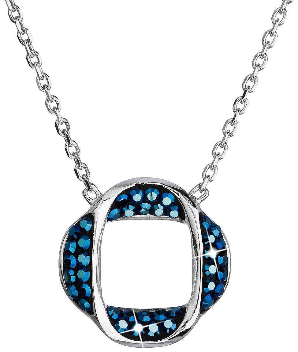 df66490b9 Strieborný náhrdelník s krištáľmi Swarovski modrý okrúhly 32016.5 ...