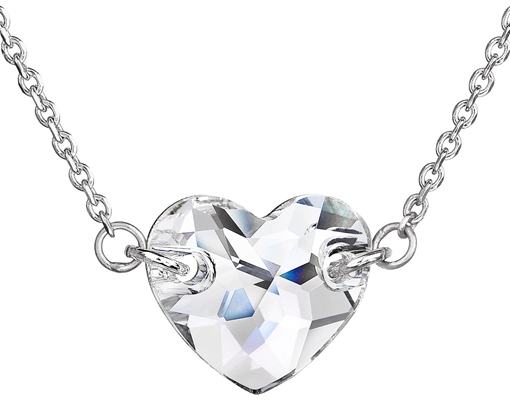 Strieborný náhrdelník s krištáľmi Swarovski biele srdce 32020.1 ... 4f5dddc2d99