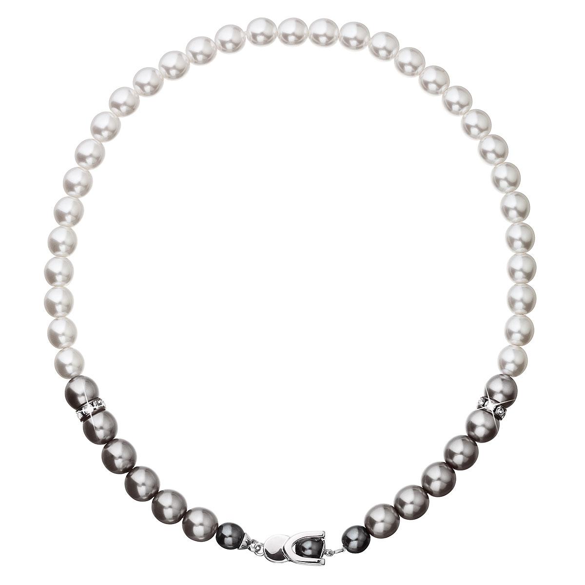 Perlový náhrdelník šedý 32043.3