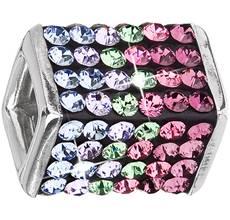 Strieborné šperky sa Swarovski kryštály - farba - fialová d372c6940f4