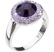 Strieborný prsteň s krištáľmi Swarovski fialový 35025.3. Akcia. Zľava. -78% 005776dcaa8