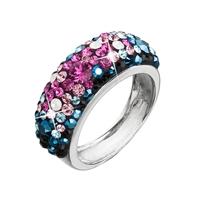 ... Strieborný prsteň s krištálmi Swarovski mix farieb modrá ružová 35031.4  ... 335707eed8f
