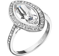 Strieborný prsteň s krištáľmi Swarovski biely ovál 35050.1. -17% 76bb9fc2fb2