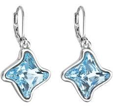 Náušnice bižutéria so Swarovski kryštálmi modrá hviezdička 51055.3 aqua 6c8b86a048e