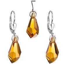 Sady strieborných šperkov so Swarovski kryštálmi - tvar - kvapka ... d525ca7bfcd