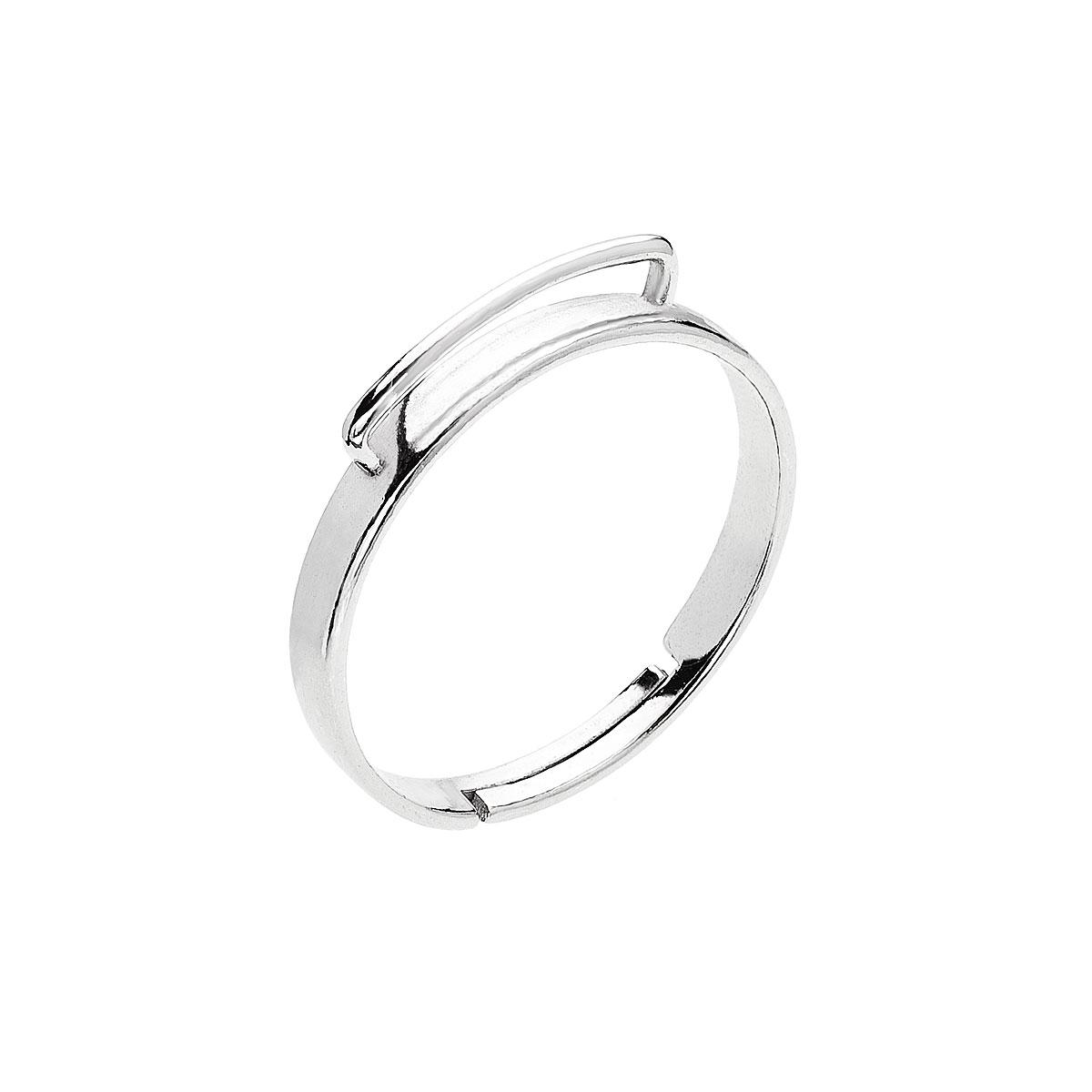 Strieborný prsteň s rhodiom hrazda P0046