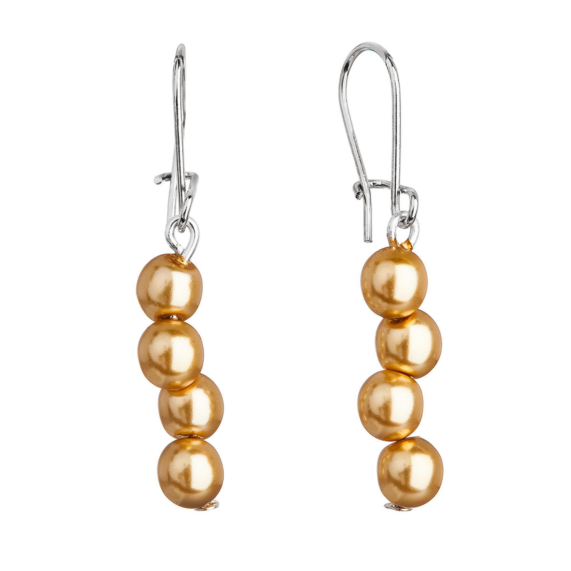 Visiace náušnice so zlatými perlami 71127.3 gold