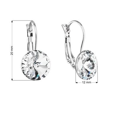 Náušnice bižutéria so Swarovski kryštálmi biele okrúhle 51002.1 ... 07778aa77e1