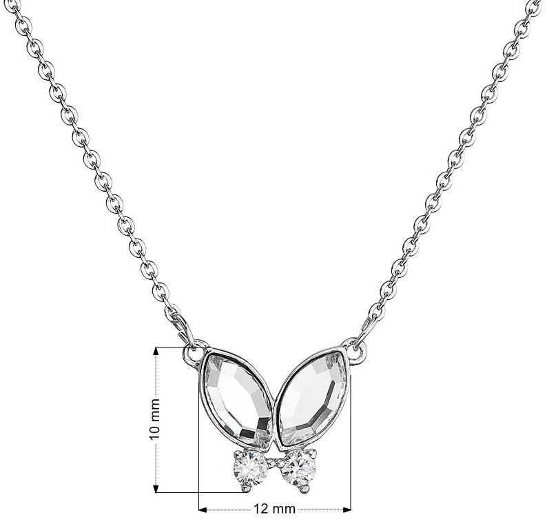 86a4bc08f Náhrdelník bižutéria sa Swarovski krištály biely motýľ 52009.1 ...